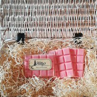 Peony and Blush Suede snap bar cubes