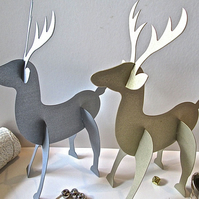 5 Silver or Gold Reindeer Place Settings Christmas Table Decorations