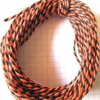10mts of Cotton bakers twine Orange and Black Hallowe'en