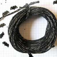 10 mts of Black SPARKLE  Cotton Bakers Twine