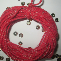 10 mts of Red SPARKLE  Cotton Bakers Twine