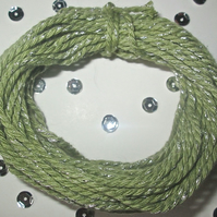 10 metres of Light Green SPARKLE Cotton Bakers twine