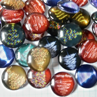 10 Glass Cabochons  20mm assorted Christmas Tree pattern