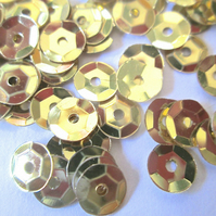 30g of GOLD 7mm  Sequins Approx. 2500
