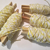 10mts Fine Yellow And White Bakers Twine
