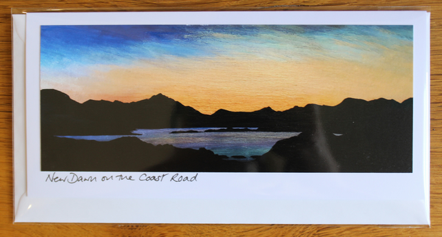New Dawn on the Coast Road Card