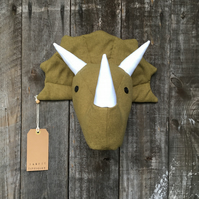 Wall mounted Triceratops head