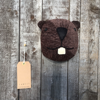 Wall mounted Beaver head