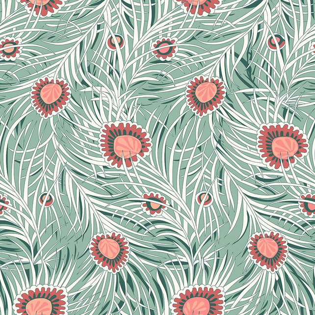 Liberty Fabric Hesketh House Collection - Pipers Peacock