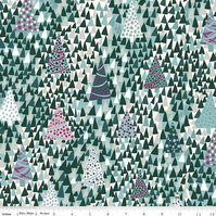 SALE Liberty Fabric Seasons Greetings - Christmas Trees