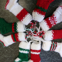 SALE - Knitted Mini Christmas Stocking's
