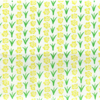Yellow and Green Floral Cotton Fabric