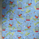 Bird Cage Cotton Fabric