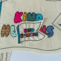 Small Kind Humans Flag, Iron-On Patch,  InTheSnug collab