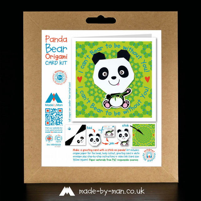 CARD KIT: Panda Bear Flower I Can't Bear to be Without You!