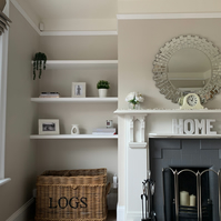 Alcove Shelves 350 mm deep up to 2400 mm wide Made to measure