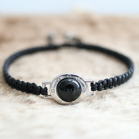 Black Onyx hand knotted friendship bracelet