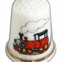 Personalised Fine Bone China Child's Train Thimble, Personalised Thimble