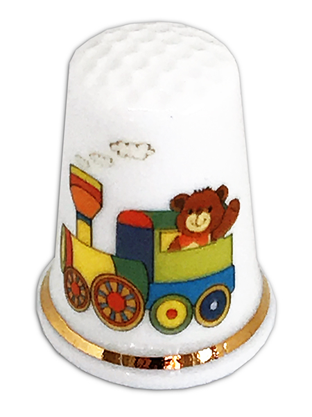 Personalised Fine Bone China Cute Bear Thimble Ideal Christening New Baby Gift