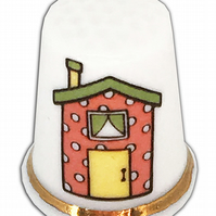 Personalised Fine Bone China New Home House Thimble