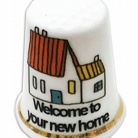 Personalised Fine Bone China New Home Thimble, House Warming Gift, New House