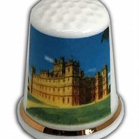 Highclere Castle Personalised China Thimble, Downton Abbey Themed Thimble