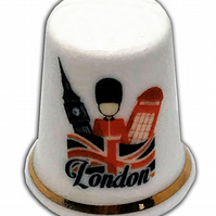 Personalised Fine Bone China London Inspired Thimble, London Gift, China Thimble