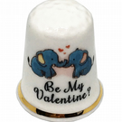 Be My Valentine Elephant Personalised Thimble