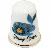 Happy Easter Personalised China Thimble