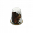 Personalised Red Squirrel China Thimble