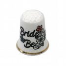 Bride To Be Personalised China Thimble