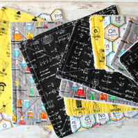 GIFT SET unPaper towel set in geeky fabric set of 12 items, terry toweling back