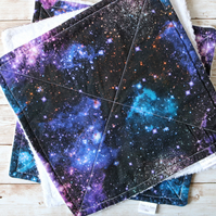 Galaxy print paper towel set. 3 full size and 3 half size.