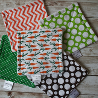 Set of 5 dish cloths. Carrots in the garden Limited Edition. Unsponge.