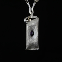 Amethyst and Silver necklace.