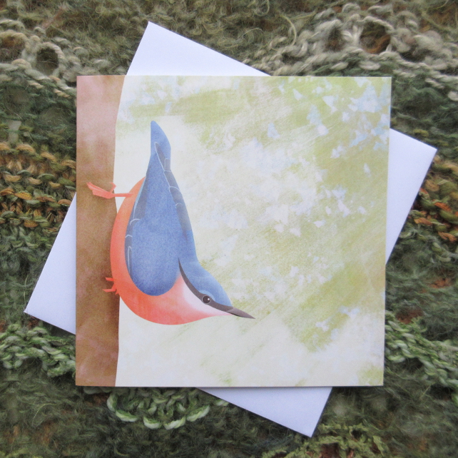 'Nuthatch' greetings card