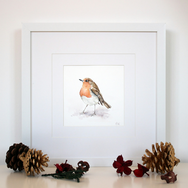 Robin Original Watercolour Painting