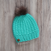 Women's Luxury Knitted 100% Merino Wool Beanie