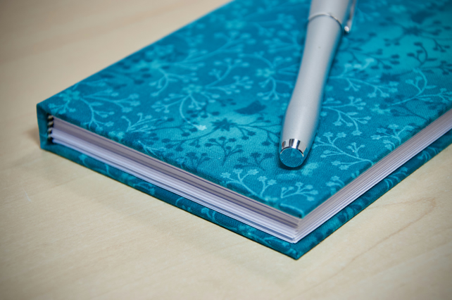 A6 Hardback Lined Notebook with full cloth cover