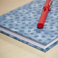 A5 Hardback Notebook with full cloth grey spotty cover