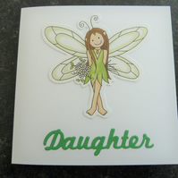 daughter green fairy card