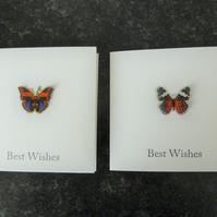 butterfly best wishes cards