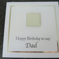 rugby happy birthday dad card