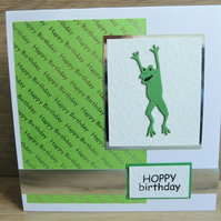 frog hoppy birthday card