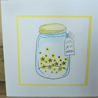 A little jar of wishes, handmade card