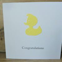 new baby yellow duck card