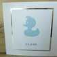 blue duck baby boy card