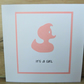 pink duck baby girl card