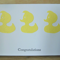 yellow duck new baby card