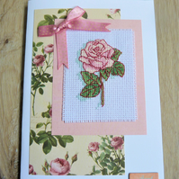 rose card, aunt birthday
